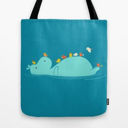 Floating Hippo Tote Bag