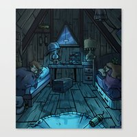 bill cipher Canvas Prints featuring bill cipher by andy leigh