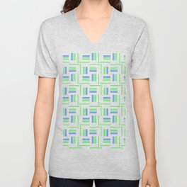 Abstract Windmills Pattern Unisex V-Neck