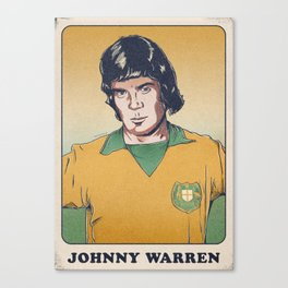 Johnny Warren Socceroo Canvas Print