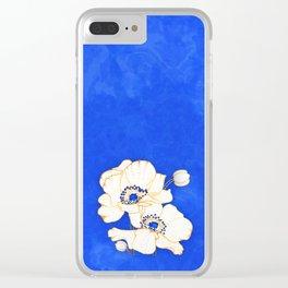 Ultramarine Blue :: Anemones Clear iPhone Case