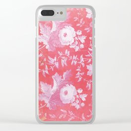 Patterned Silk Rose Clear iPhone Case
