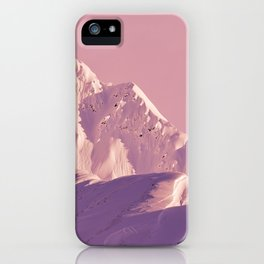 Pink Sherbet - Alaskan Mts. I iPhone Case