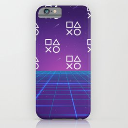 Vaporwave Playstation Neon Aesthetic iPhone Case
