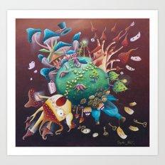 the planet wonderland Art Print