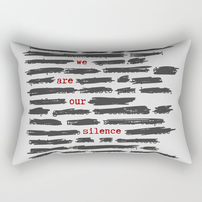 We are our silence Rectangular Pillow