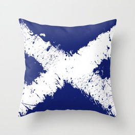 in to the sky, scotland Throw Pillow