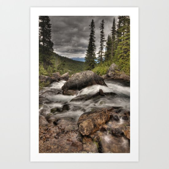 Geraldine Lakes HDR Art Print