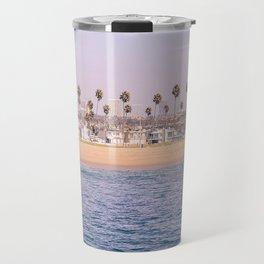 Vintage Newport Beach Print {2 of 4} | Photography Ocean Palm Trees Magenta Tropical Summer Sky Travel Mug