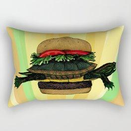 Turtle Sandwich Rectangular Pillow