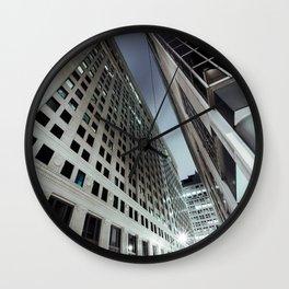 Cityscape III - City Horizon Skyline Chicago Nightlife Contemporary Decor Metropolis  Wall Clock