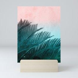 Watercolor Sago Palm Leaves Mini Art Print