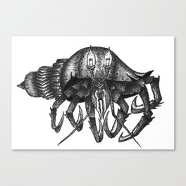 Steampunk angry crab Canvas Print