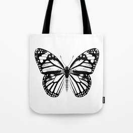 Monarch Butterfly | Black and White Tote Bag