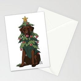 Chocolate Labrador Retreever Stationery Cards
