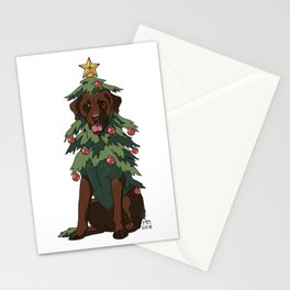 Chocolate Labrador Retreever Stationery Cards