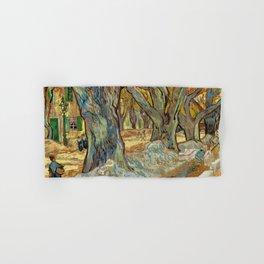 Vincent van Gogh - The Large Plane Trees (Road Menders at Saint-Rémy) 1889 Hand & Bath Towel