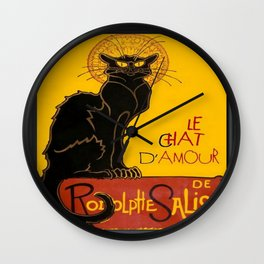 Le Chat D'Amour Greeting Card  Wall Clock