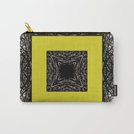 Gothic tree box pattern mustard yellow Carry-All Pouch