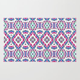Colorful Folk Style Pattern Rug