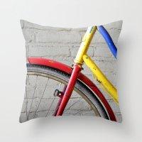 bike Throw Pillows featuring Bike by Marieken