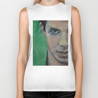 street fighter Biker Tanks featuring Fighter by Michael Creese