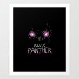 Black Panther Eyes Art Print