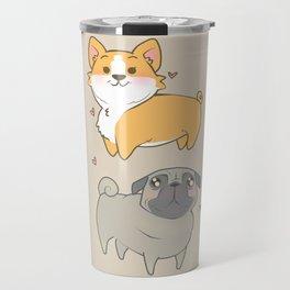 Corgi and pug Travel Mug
