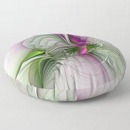 Wild Beauty, Abstract Fractal Art Floor Pillow