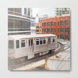 Chicago Train Photography - 3426 Metal Print