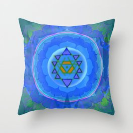Inner Light Yantra Throw Pillow