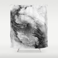 brad pitt Shower Curtains featuring ε Enif by Nireth