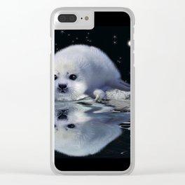 Destiny - Harp Seal Pup & Ice Floe Clear iPhone Case