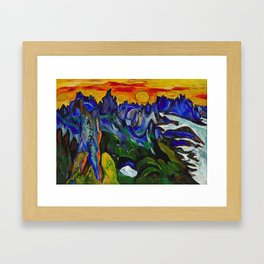African American Masterpiece 'Midnight Sun, Norway' by William Henry Johnson Framed Art Print