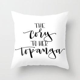 The Cory to her Topanga Throw Pillow