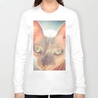 floyd Long Sleeve T-shirts featuring Floyd The Cat by Alex DZ