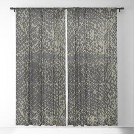 Snake Martini Olive Sheer Curtain