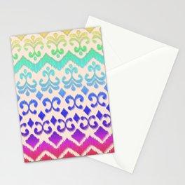 Ikat Rainbow Harmony on Cream Stationery Cards