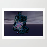 ninja prayer Art Print