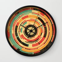 dave grohl Wall Clocks featuring Space Odyssey by Picomodi