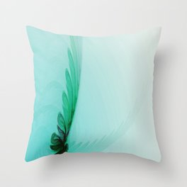 With Brave Wings She Flies Throw Pillow
