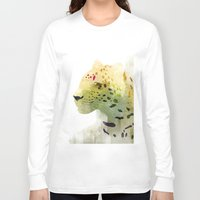 leopard Long Sleeve T-shirts featuring Leopard by EtOfficina