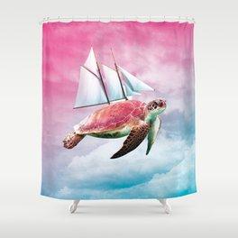 Festina lente Shower Curtain
