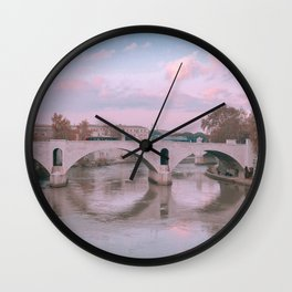 Views from Paris | Seine River | Europe Travel Photography Wall Clock