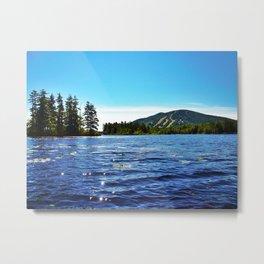 Shawnee Peak from Moose Pond in Maine (1) Metal Print