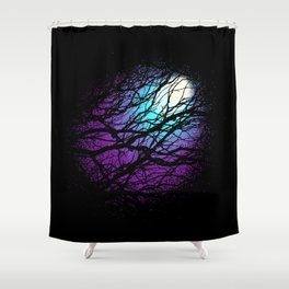 lights in the forest Shower Curtain