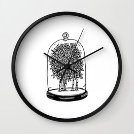 Bamboo Belljar Wall Clock