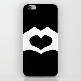 Hands making a heart shape- portraying love iPhone Skin