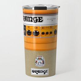 Bright Orange color amplifier amp Travel Mug