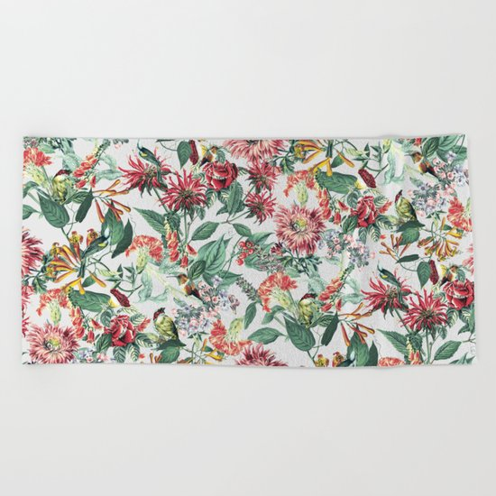 Botanical Garden II Beach Towel